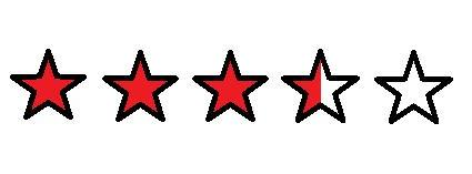3,5 red stars